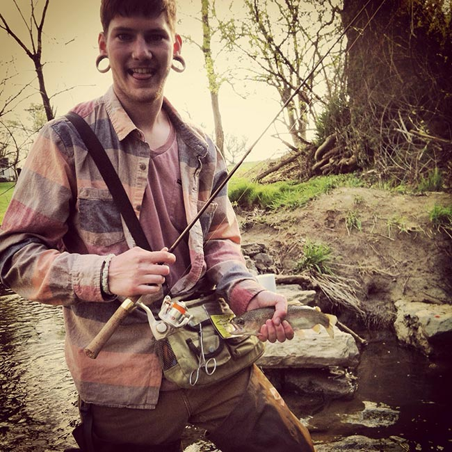 Josh fell in love with fishing on opening day 2013